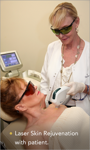 laser skin rejuvenation treatment being conducted in laguna beach, ca