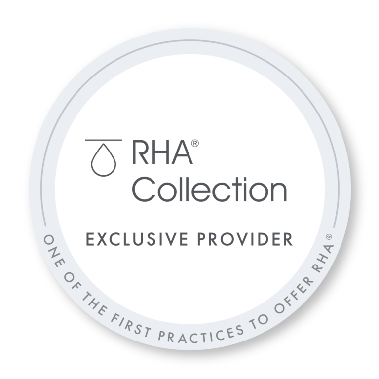 Logo of RHA collection, a new set of dermal fillers to remove dynamic wrinkles, now offered in Long Beach, CA